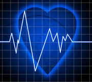 Heart beat on clinic monitor Stock Photo