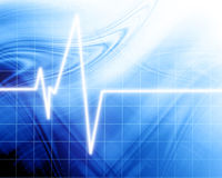 Heart beat on clinic monitor Royalty Free Stock Photography