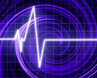 Heart beat on clinic monitor royalty free illustration