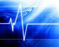 Heart beat on clinic monitor Stock Images