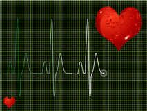 Heart Beat Green Stock Photo