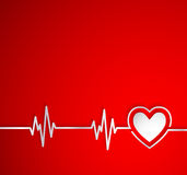 Heart beat with heart shape.Useful as medical background Stock Photography