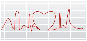 Heart beat I Royalty Free Stock Images