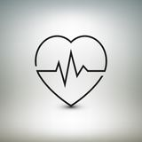 Heart beat icon, healthcare and medical vector Stock Photography