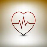 Heart beat icon, healthcare and medical vector Stock Photo