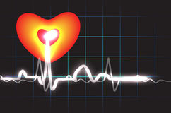 Heart Beat. Illustration work of a heart beat with background Royalty Free Stock Photos