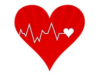 Heart beat lifeline Royalty Free Stock Photo