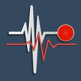 Heart beat line, cardiogram. Vector Stock Photos