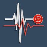 Heart beat line, cardiogram. Vector Stock Photos