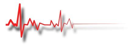Heart beat line, ekg death die. pulse. EPS10 vector illustration royalty free illustration