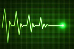 Heart beat line end of life Stock Images