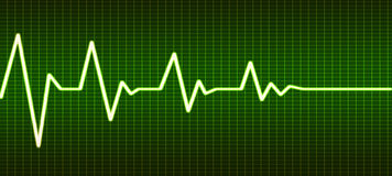 Heart beat line end of life Stock Image