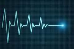 Heart beat line end of life Stock Photos