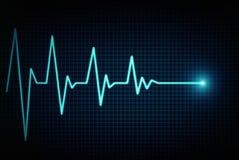 Heart beat line vector illustration