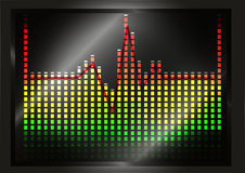 Heart beat line on equalizer. Motif Stock Photography