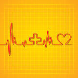 Heart beat make medical and heart symbol background Stock Photo