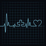 Heart beat make medical and heart symbol Stock Photography