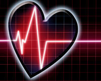 Heart beat on monitor Stock Image