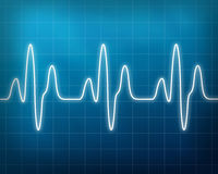 Heart beat monitor. Blue monitor of a heart beat royalty free illustration