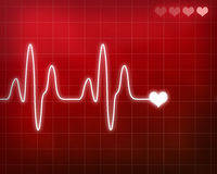 Heart beat monitor stock photo