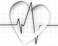 Heart beat on a monitor Stock Image