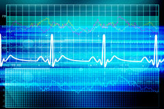 Heart beat monitor Stock Photography