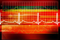 Heart beat monitor Royalty Free Stock Images