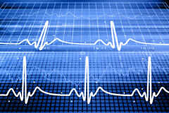 Heart beat monitor Stock Photos