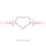 Heart beat pulse background. Valentines day Royalty Free Stock Photo