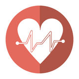 Heart beat pulse cardiac medical shadow Royalty Free Stock Photos