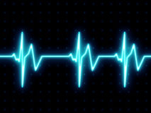 Heart beat screen. Heart beats on ECG screen Royalty Free Stock Photos