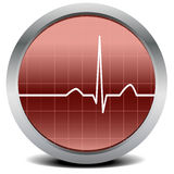 Heart beat signal. Illustration of a round heart beat monitor with signal Royalty Free Stock Photos