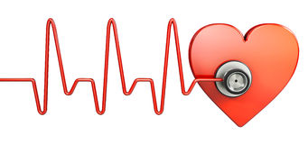 Heart beat symbol Royalty Free Stock Photos
