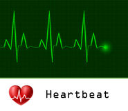 Heart beat text frame Royalty Free Stock Photos