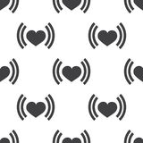 Heart beat, vector seamless pattern Royalty Free Stock Photos