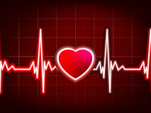 Heart beating monitor. EPS 8 Royalty Free Stock Photo