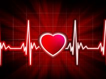 Heart beating monitor. EPS 8 Stock Images