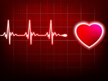 Heart beating monitor. EPS 10 Royalty Free Stock Image