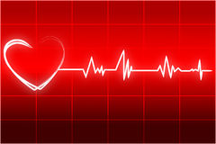 Heart beats royalty free illustration