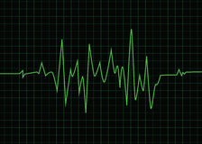Heart beats cardiogram on black screen Royalty Free Stock Photography