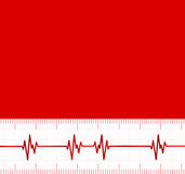 Heart beats cardiogram.Useful as medical background Royalty Free Stock Photography