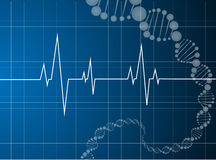 Heart beats dna molecule Stock Photos