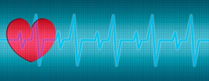 Heart Beats, ECG, curves, diagram. Heart Beats, Heart ECG, curves in diagram royalty free illustration