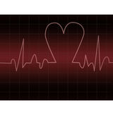Heart beats-ekg Stock Image