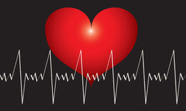 Heart beats graph Stock Photo