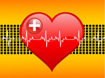 Heart-beats on graph Stock Photos