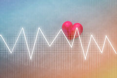 Heart beats on Healthcare and Medical concept background Stock Images