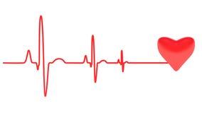 Heart Beats, Isolated On White Background.  vector illustration