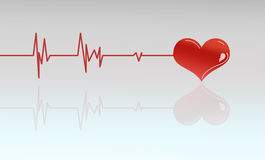 Heart beats vector stock photo