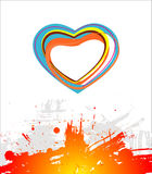Heart beautiful. Abstract vector composition Royalty Free Stock Photo